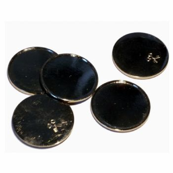 Metal Token 18mm Recess with Clear Dome